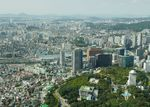 View west from N Seoul Tower