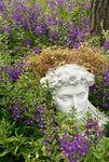 Greek bust in flowers