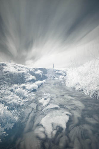 Photo taken with converted camera with Zomei 720nm IR filter, Zomei ND3 filter, and XCSource ND3 filter - 600s exposure