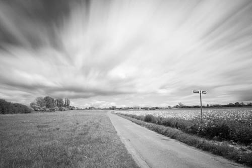 Long exposure photo of Fardon Road near Lubenham, taken with Zomei 6 stop and XCSource 10 stop ND filters
