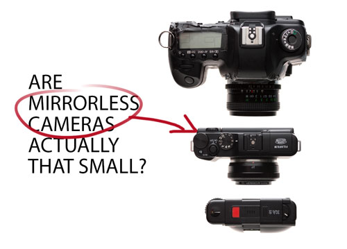 Are mirrorless cameras actually that small?