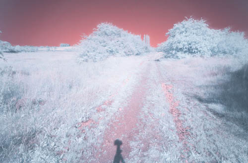 Long exposure photo taken with Fuji 14mm f/2.8 lens and 760nm infrared filter on unconverted camera