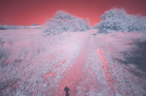 Long exposure photo taken with Fuji 16-50mm lens at 16mm and 760nm infrared filter on unconverted camera