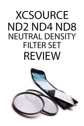 XCSource ND2 ND4 ND8 Neutral Density Filter Set Review