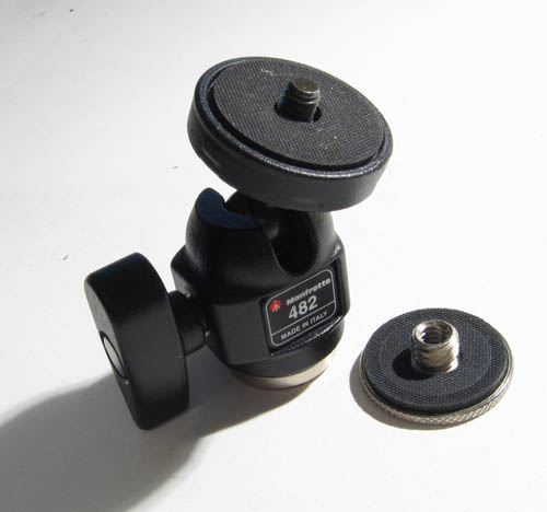 Manfrotto 482 mini ball head and thread adapter