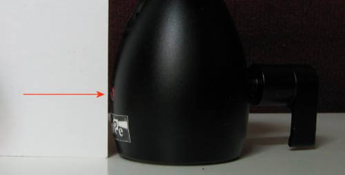 Fig 2 Location of the bore on the Haoge mini ball head