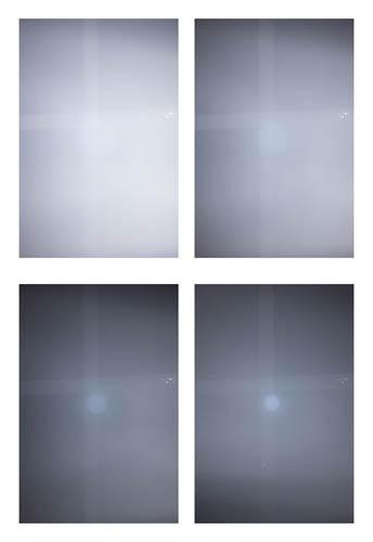 Fuji XF 27mm f/2.8 lens infrared hotspot check at f/2.8, f/4, f/5.6 and f/8