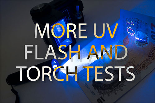 More UV flash and torch tests