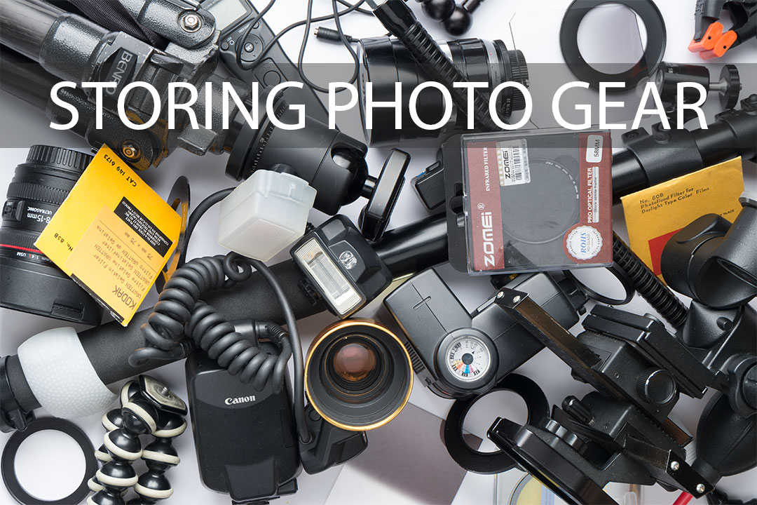 Storing and organising photography gear / equipment