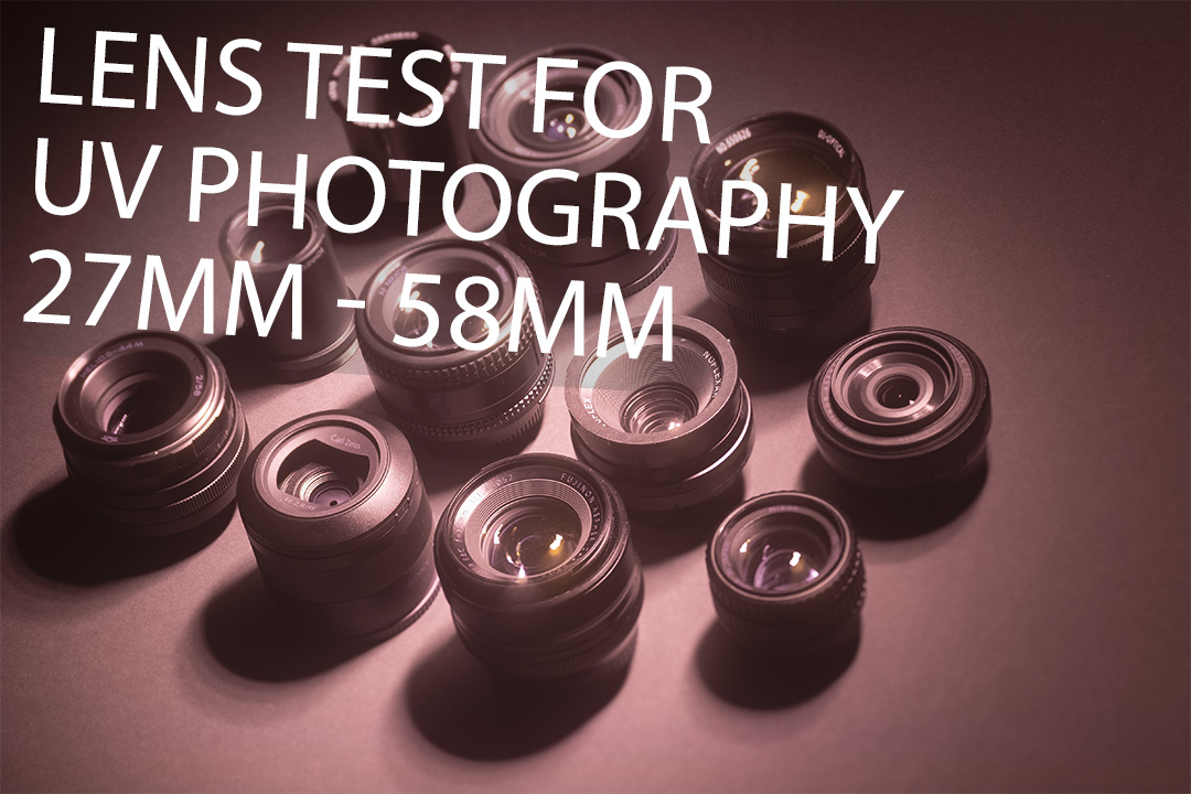 UV photograph of lenses tested