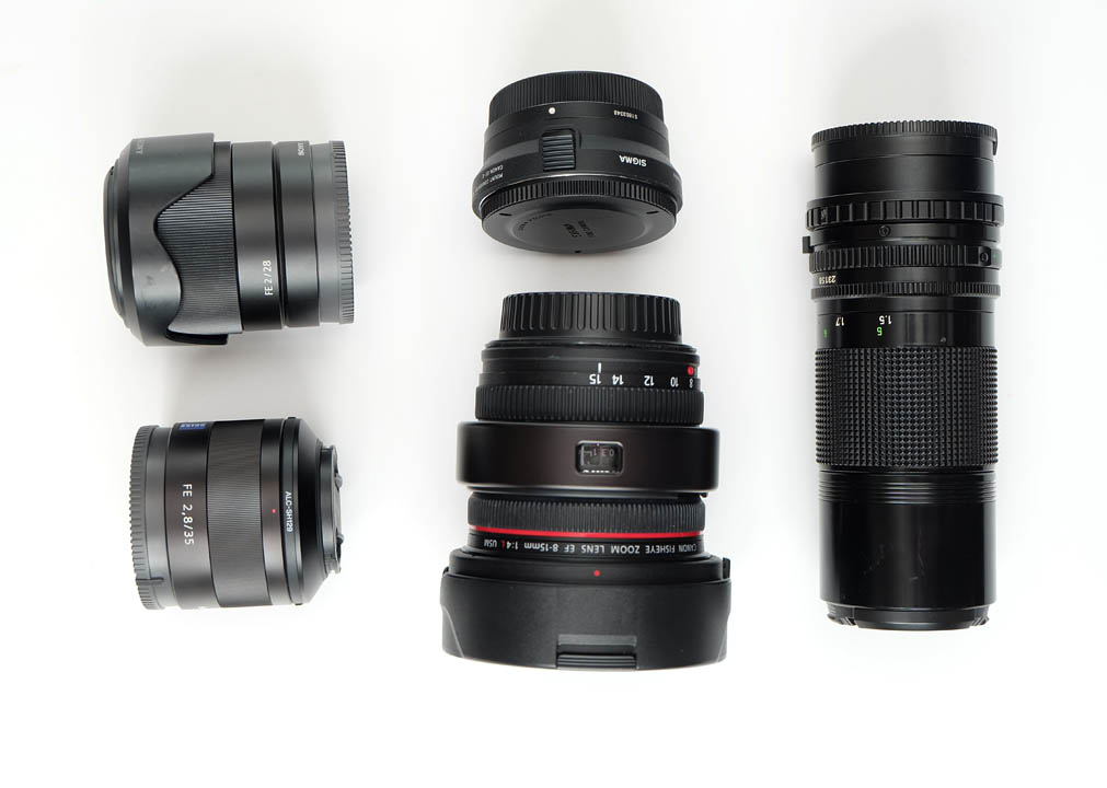 Lenses and adapter