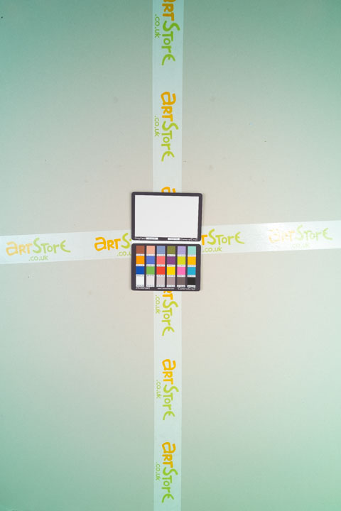 Photo of sheet of grey card taken on a full spectrum camera with a wide-angle lens with B+W 486 filter