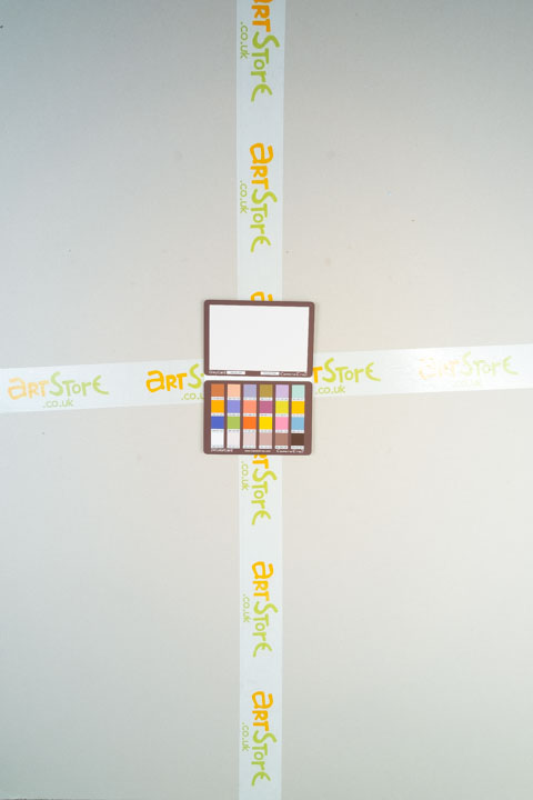 Photo of sheet of grey card taken on a full spectrum camera with a wide-angle lens with SLR Magic Image Enhancer Pro filter