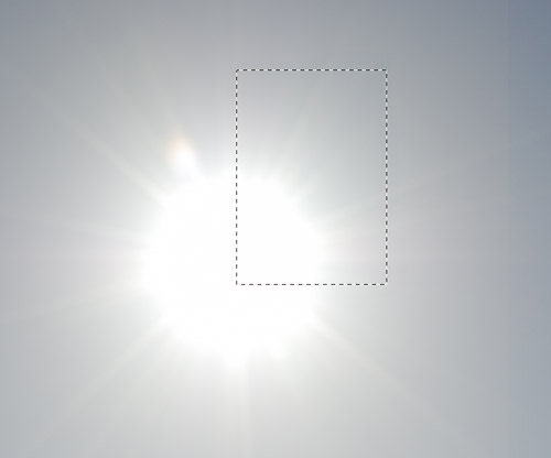 Copied area of sun with no flare