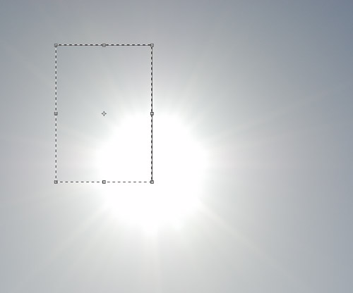 Copied area of sun with no flare flipped horizontally