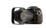 Nikon D200 with Cokin P filter holder and modular lens hood