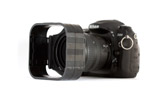 Nikon D200 with Cokin P filter holder and two sections of the modular lens hood