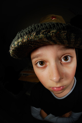 Fisheye portrait photo