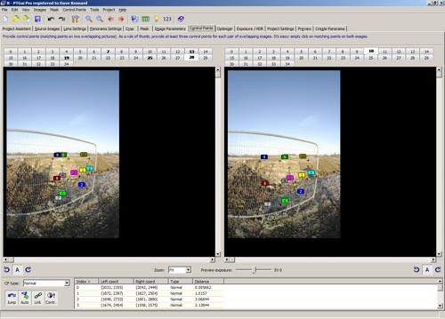 Image and offset version of image for tripod shadow removal in PTGUI