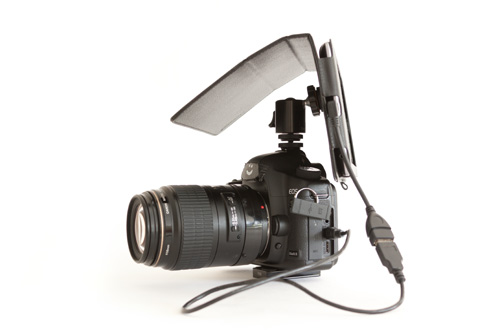 Mounting the Nexus 7 tablet to a DSLR hot shoe
