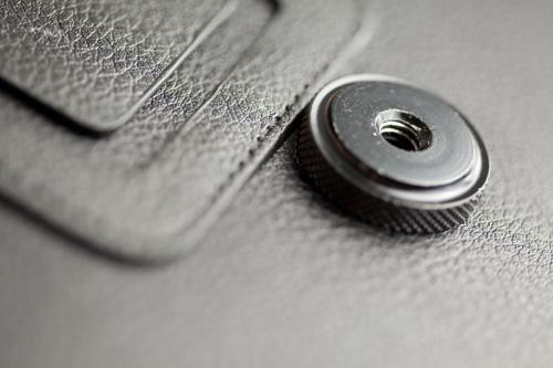 "Nexus 7 case with 1/4"" nut glued to it"