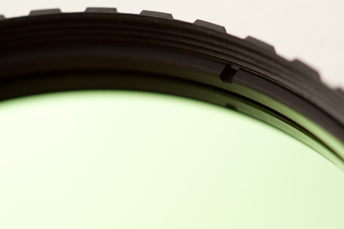Notch in the retaining ring on the Baader U filterlight