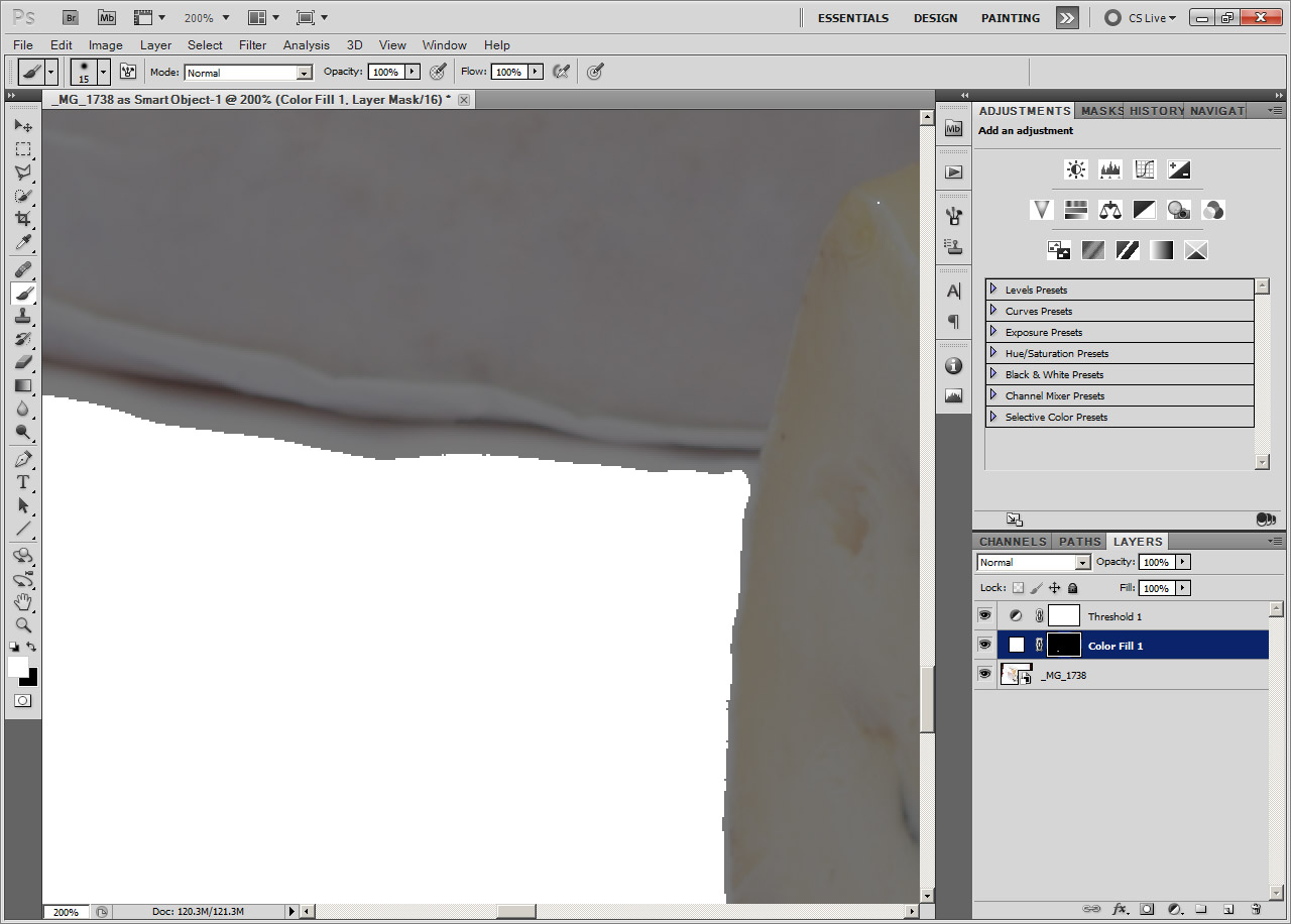 How to make a white background in Photoshop
