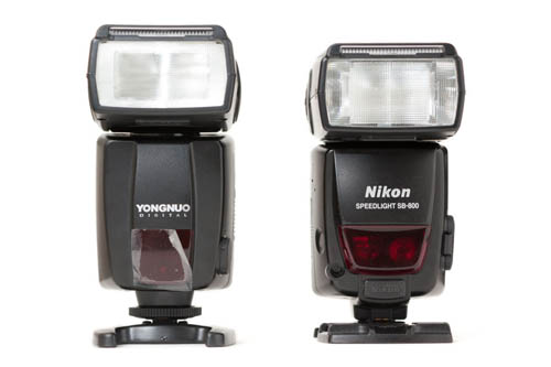 YongNuo Speedlite YN460-II compared to Nikon Speedlight SB-800