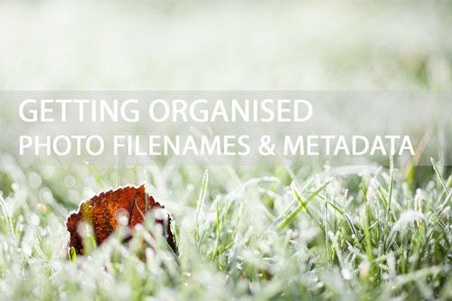 Getting organised - Photo filenames & Metadata