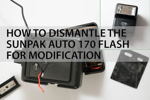 How to dismantle the Sunpak Auto 170 flash for modification