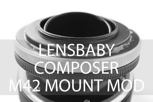 Lensbaby Composer M42 mount mod