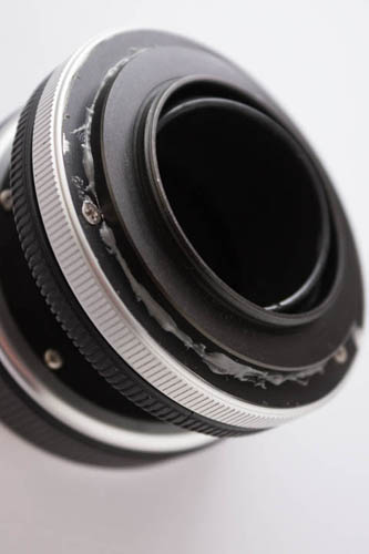 Completed Lensbaby with M42 mount