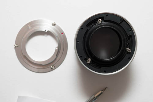 Lensbaby with original Nikon mount removed