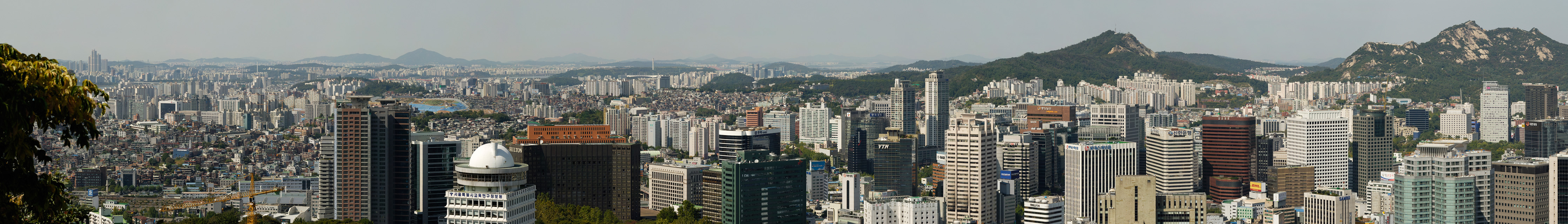 Seoul panorama from partway up north side of Namsan